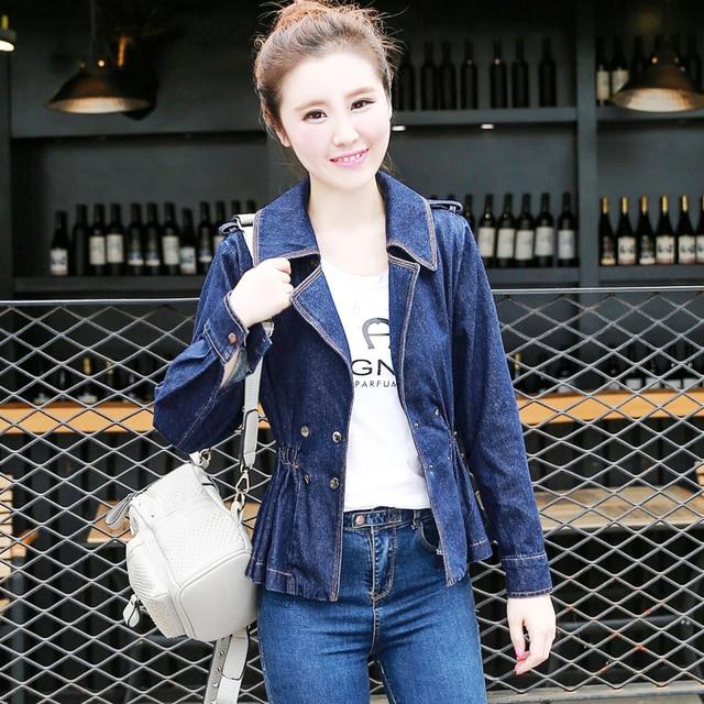 Горячие женщины свободные джинсовая куртка 2017 Весна Осень жан куртки женщин моды Женщин Короткие Джинсовые куртки для женщин Пиджаки
