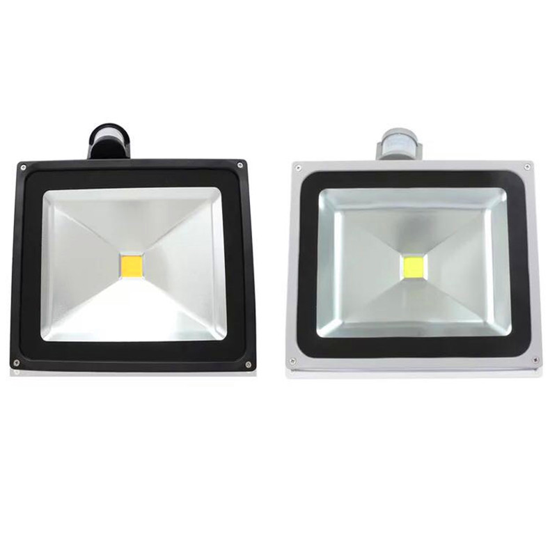 LED PIR Flood Light Infrared Body Motion Sensor 10W/20W/30W/50W Floodlight 230V Outdoor LED Garden Lawn Landscape Lamp