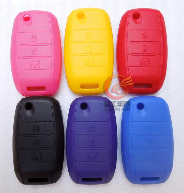 Kia sorento k3 gel de sílice multicolor plegable llave del coche kit