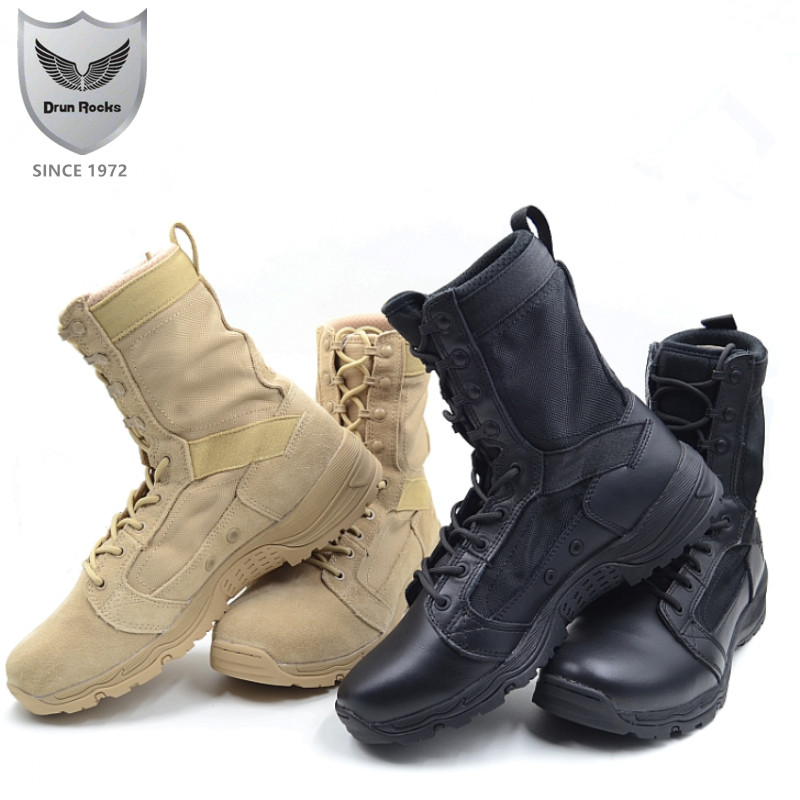 Drunrocks chiny buty wojskowe armii kobiet buty damskie odkryty Boot wojska obuwie damskie pustyni buty oddychające botki buty w Buty do kostki od Buty na  Grupa 1