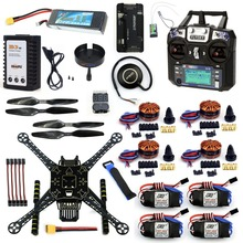 DIY 4 Eje RC FPV Drone S600 Kit Marco con APM 2.8 sin Brújula FS-i6 Flysky TX Batería Cargador XT60 700KV Motor ESC 40A F19457-J