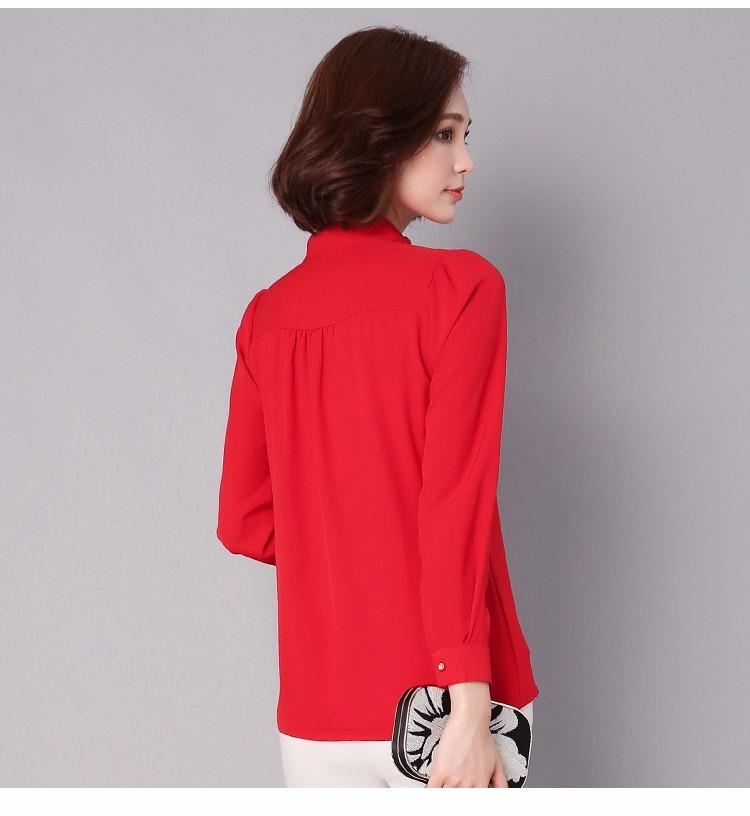 HTB1Tp83LpXXXXc.XFXXq6xXFXXXT - Long Sleeve Elegant Ladies Office Shirts Fashion Casual Slim Women