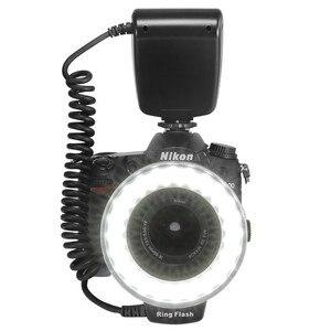 Image 4 - RF 550D 48 Chiếc Macro Flash Vòng LED Kèm 8 Adapter Ring Cho Canon Nikon Pentax Olympus Panasonic Máy Ảnh DSLR đèn Flash V HD130