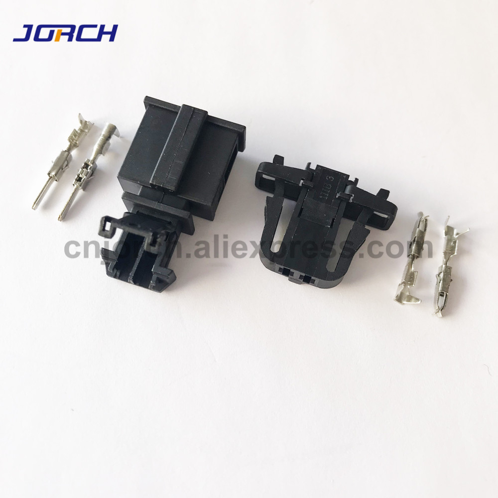 5sets 1.5mm Male Female Auto Electrical Plug Trunk License Plate Light Connector 1J0971972 3B0972712