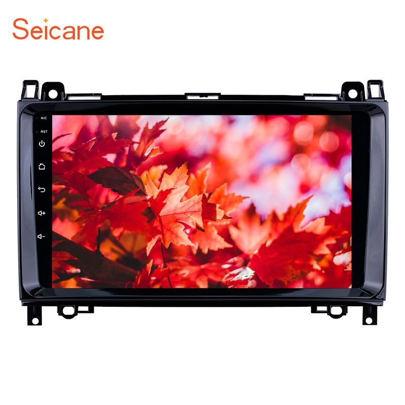 Seicane 9 inch Car Multimedia Player Android 8.1 2Din <font><b>GPS</b></font> radio For <font><b>Mercedes</b></font> Benz B W245 B150 B160 B170 <font><b>B180</b></font> B200 B55 2004-2012 image