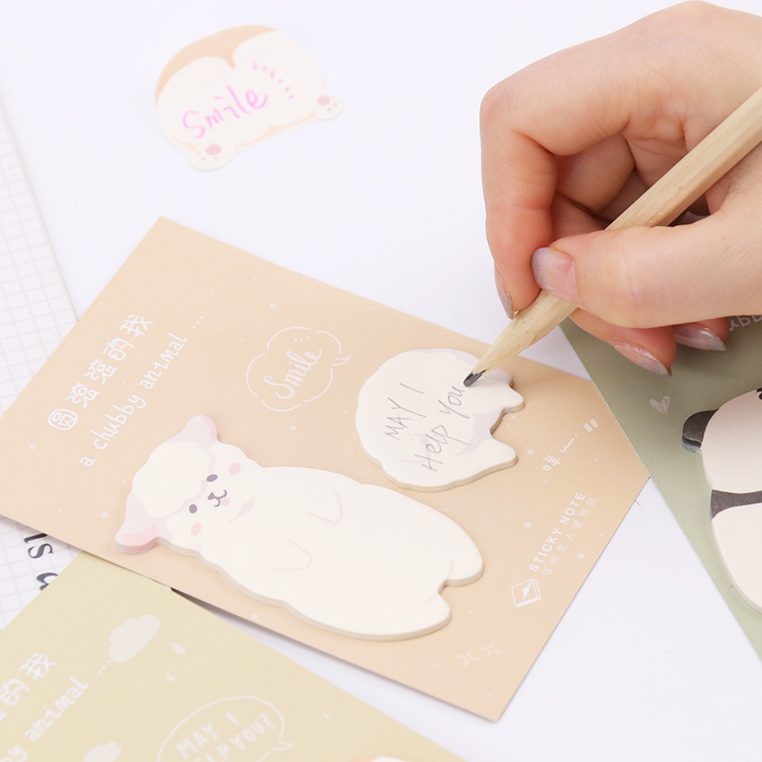 Notes Message Memo Sticky Note Cute Fat Little Animal Message Sticky Notes Memo Pad Stationery School Supplies