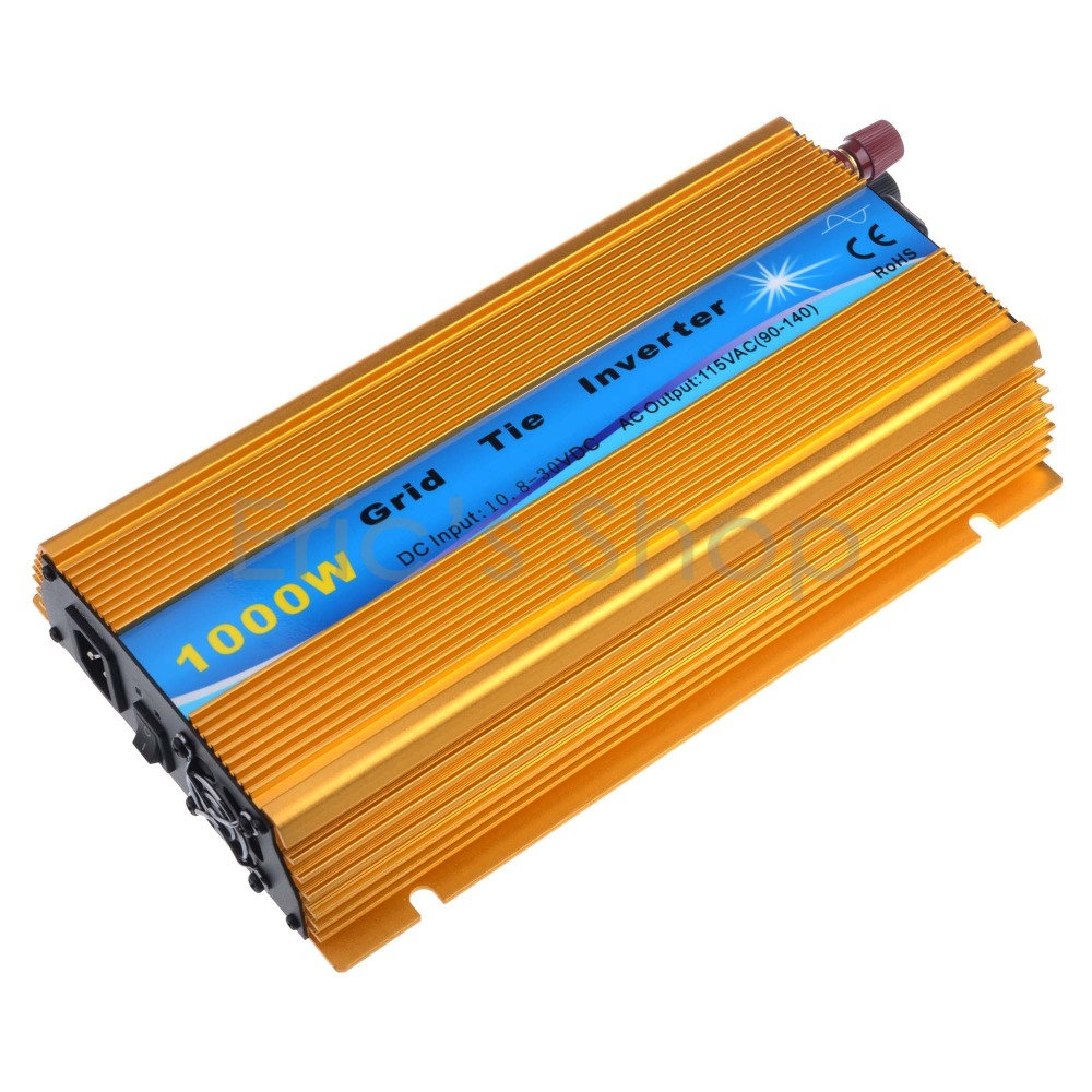 1000W Grid Tie Inverter DC10.5V-30V to AC110V Pure Sine Wave Inverter Fit For 18V/36cells Solar Panel Power Inverter solar power on grid tie mini 300w inverter with mppt funciton dc 10 8 30v input to ac output no extra shipping fee