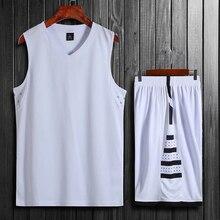 Высокое качество Детские мужские баскетбольные тренировочные Джерси Набор пустые студенческие спортивные костюмы дышащие баскетбольные майки форма на заказ