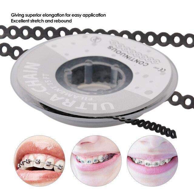 Dientes Blanqueamiento Dental goma carrete alta resistencia Dental ortodoncia materiales elásticos Ultra cadenas de potencia transparente
