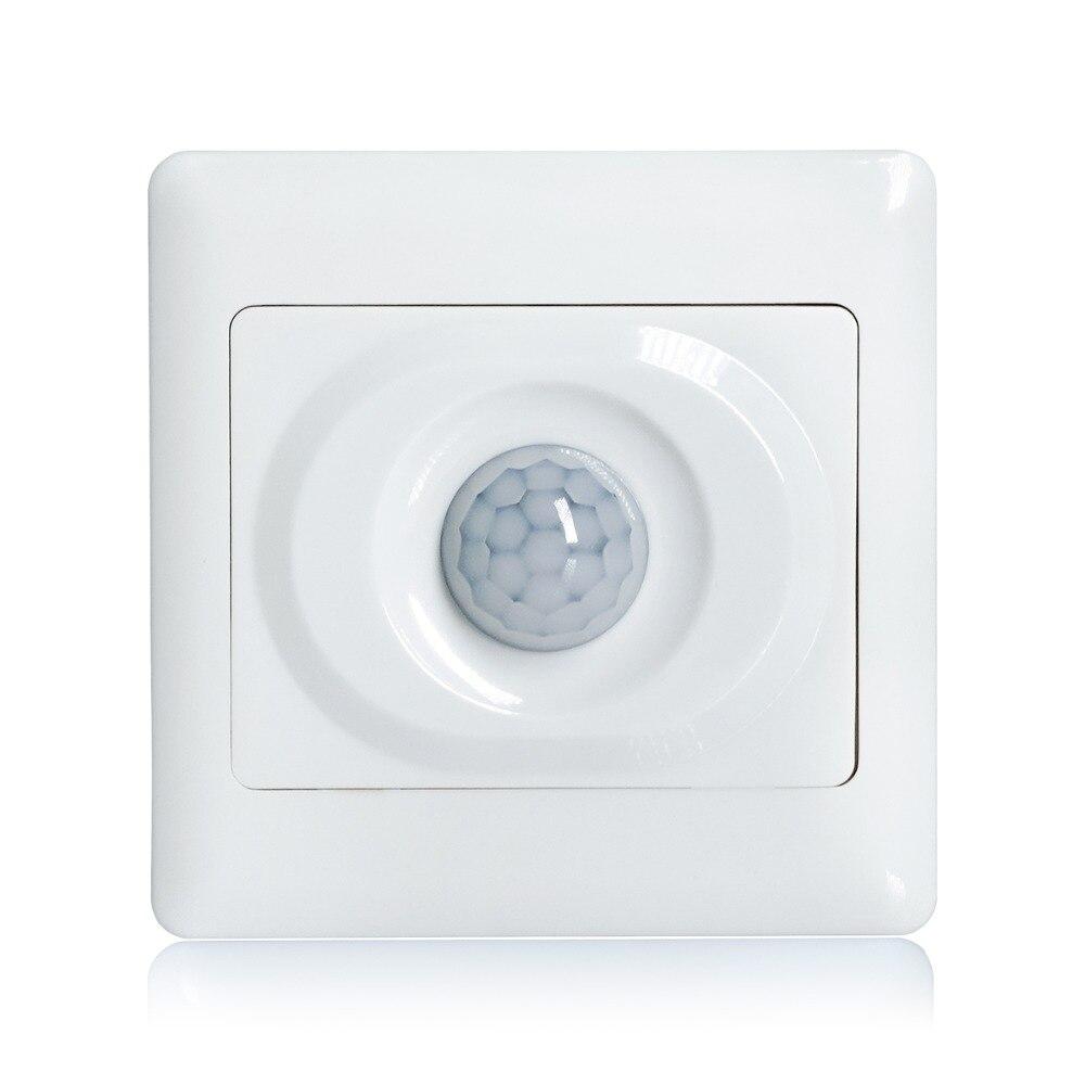 110 v 220 v AC temps retard réglable lumière ambiante réglable wall mount PIR motion capteur de lumière interrupteur 017