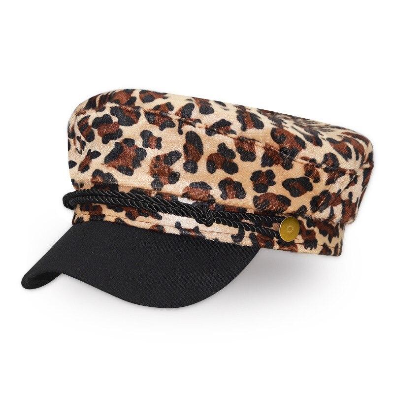 5f389716f3cde Detalle Comentarios Preguntas sobre Vintage de lana con estampado de  leopardo sombrero Casual para mujer