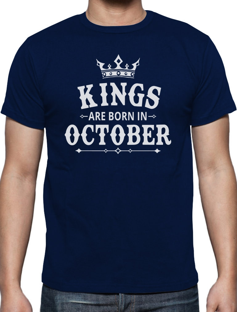 Online T Shirts Design Short Top Kings Are Born In October