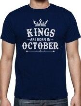 Здесь можно купить   Online T Shirts Design Short Top Kings Are Born In October O-Neck Mens T Shirt Men