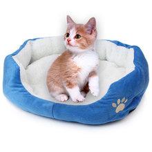 Мягкая флисовая кровать для домашних животных зимний теплый