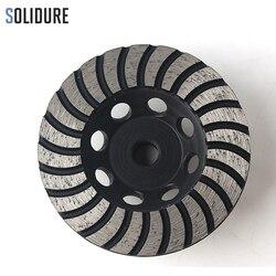 100 мм Арбор M14 грубая # турбо Алмазная чашка шлифовальные круги с железной спинкой для шлифовки камня, бетона и плитки
