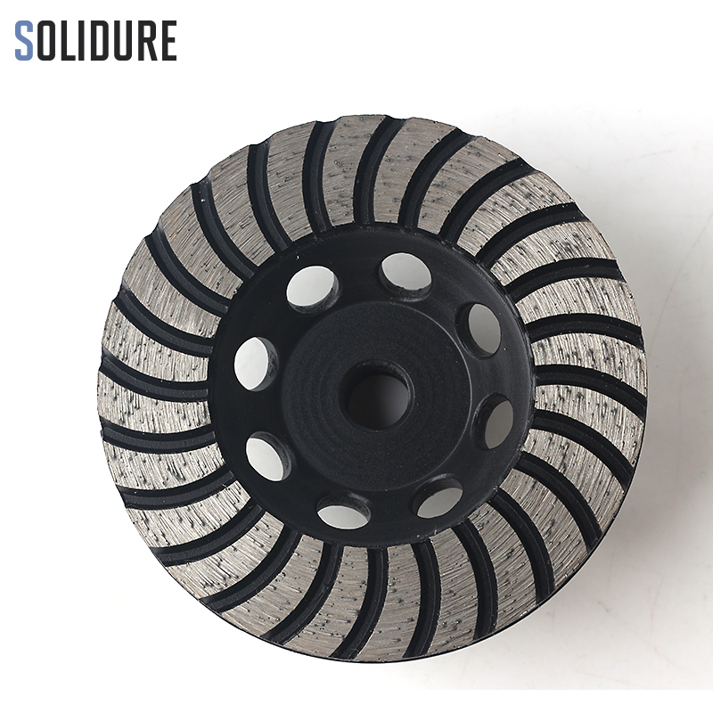 100mm Arbor M14 Coarse# Turbo Diamond Cup Grinding Wheels With Iron Backer For Grinding Stone,concrete And Tiles