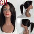7A короткие парики человеческих волос боковой части Glueless фронта человеческих волос парики бразильский девственные волосы боб парик с челкой
