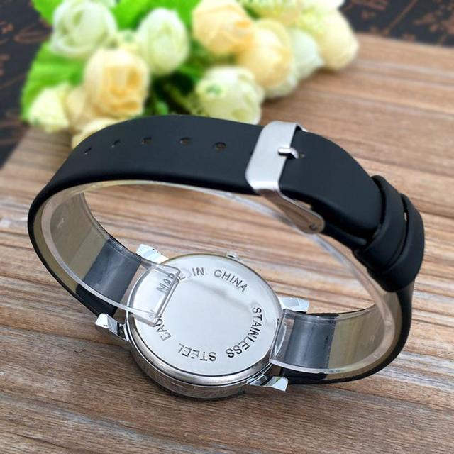 1Pair Men and Women Student Couple Stylish Spire Glass Belt Quartz Watch Wrist Watch Lovers Watches Women Men DE28 Drop Shipping