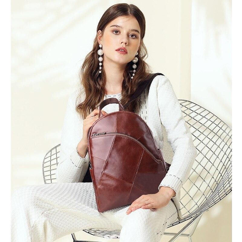 Image 3 - Cobbler Legend Backpack Women 2019 Laptop Bagpack Vintage Classic  Genuine Leather Womens Backpack Ladies Bag Mochila FemininaBackpacks