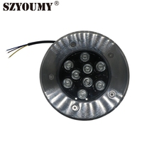 SZYOUMY Waterproof 9W LED RGB Paving Sidewalk Underground Garden Landscape Lights With Remote Controller Single Color Optional