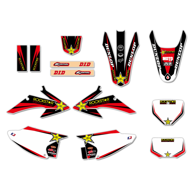 GRAPHIC BACKGROUND Decals For Honda CRF150 CRF230 CRF150F CRF230F 2008 2009 2010 2011 2012 2013 2014
