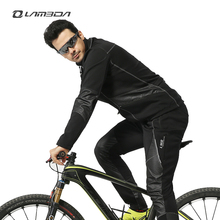 Winter bicycle cycle cycling clothing sets men warm mountain road bike long sleeve jersey pants sports