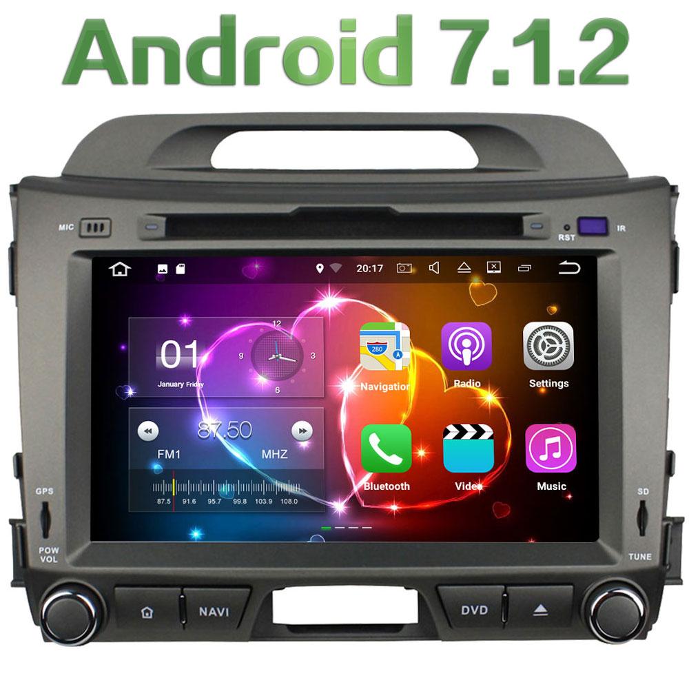Android 7 1 2 8 Quad Core 2GB RAM 3G 4G WIFI DAB SWC BT Car