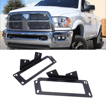 Upgrade Hidden Bumper Dually Fog Light Location Mounting Brackets Fit 2010-2019 Dodge Ram 2500 3500 and 2009-2012 Ram 1500