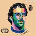 Alessandro Del Piero Juventus homens t-shirt unisex o-pescoço 100% 180g ringspun algodão de manga curta de corte reto frete grátis