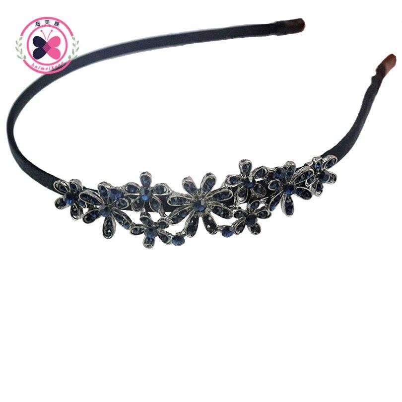 Haimeikang Women Headwear irregular Rhinestone Hairs