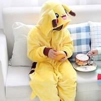 Halloween Costume For Kids Pokemon Pikachu Costumes Flannel Sleepwear Children Girls Boy Clothes Animals Dinosaur Onesie