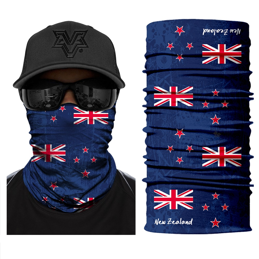 Custom Seamless Bandanas New Zealand Country Flag Cycling Running Headband Neck Gaiter Outdoors Face Mask MOQ