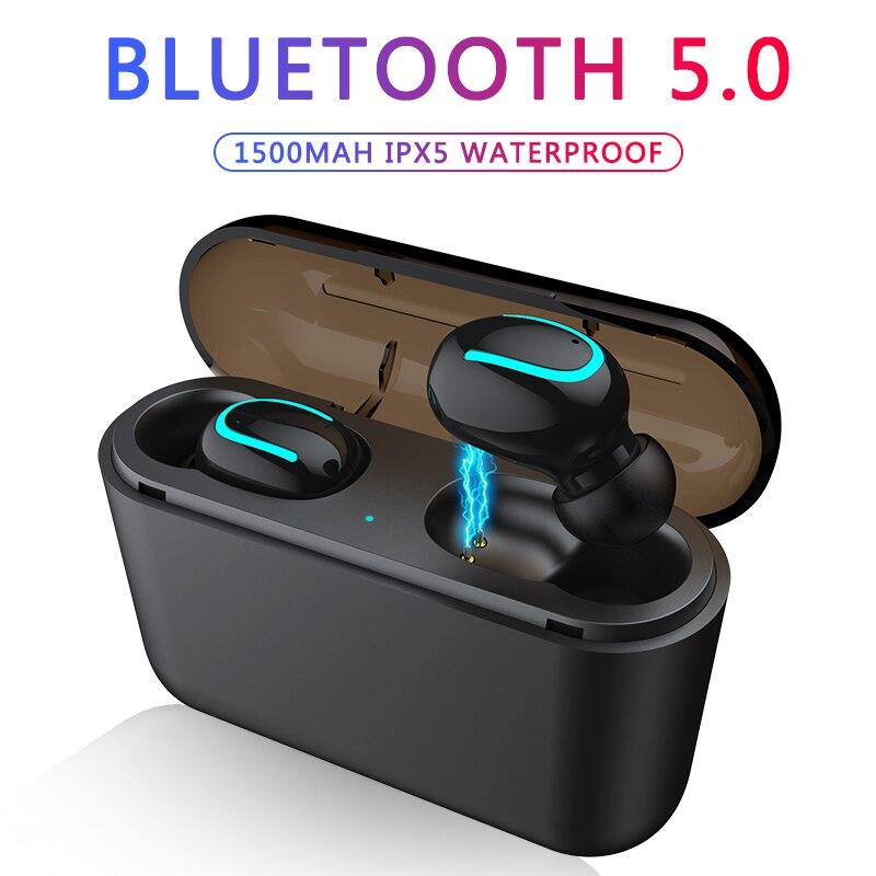 Bluetooth Kopfhörer TWS Drahtlose Blutooth 5,0 Kopfhörer Freihändiger Kopfhörer Sport Ohrhörer Gaming Headset Telefon PK HBQ