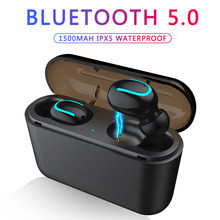 Bluetooth Earphones TWS Wireless Blutooth 5.0 Earphone Handsfree Headphone Sports Earbuds Gaming Headset Phone PK HBQ(China)
