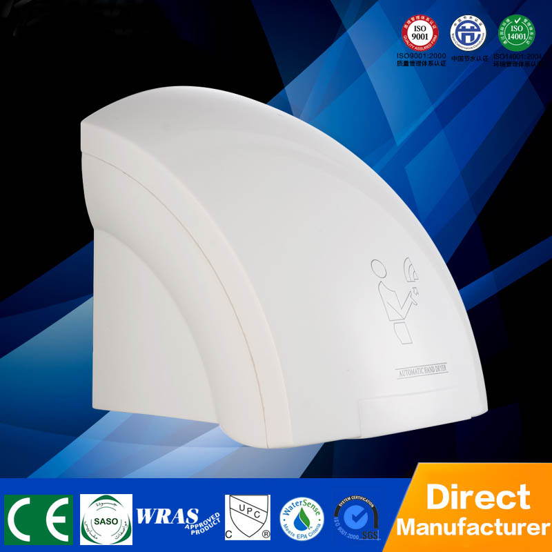 цена на Free shipping 1800W Hand Dryer Wall Mounted Hotel ABS Plastic Automatic Sensor Hand Dryer With Tray for sale Hand Dryer