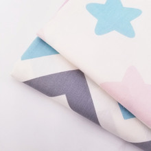 Star/Stripe Printing 100% Cotton Twill Fabric Breathable Handmade Quilting Sewing Craft Cloth Bedding For Child
