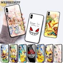 WEBBEDEPP Pika Go PokeBall animal Glass Phone Case for Apple iPhone 11 Pro X XS Max 6 6S 7 8 Plus 5 5S SE