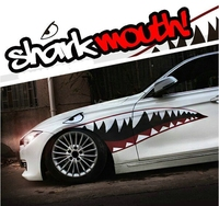 1 Pair Creative Auto decor White Shark Mouth Car Sticker Colorful Shark Mouth Car Body Decal 2 Types Z2CA257