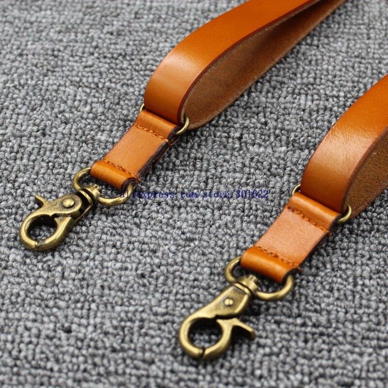 1 7cm High quality real cowhide split leather strap Women men unisex Hook suspenders in Men 39 s Suspenders from Apparel Accessories