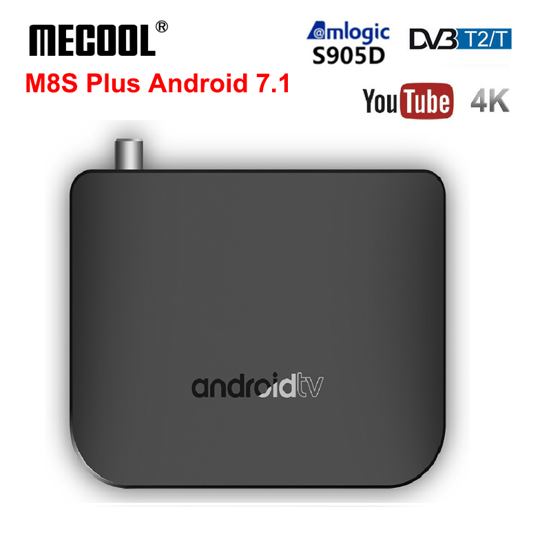 M8S PLUS DVB T2 T Android 7 1 TV Box Amlogic S905D Quad Core 1GB 8GB