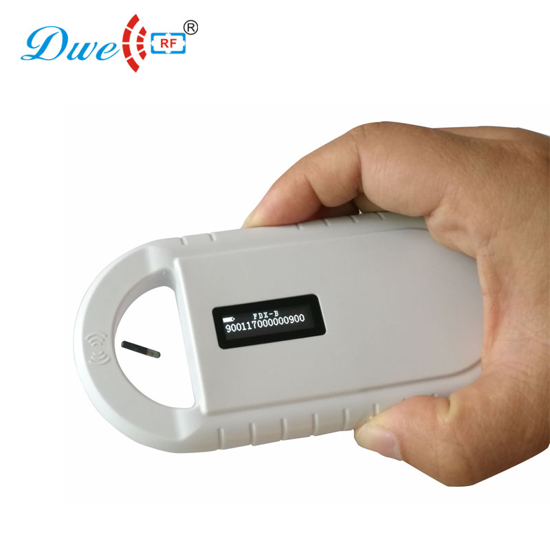 DWE CC RF control card readers ISO FDX-B tag portable pet tracking reader animal microchip scanner
