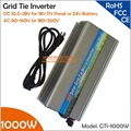 Grid Tie 1000W Micro Solar Inverter 10.5-28V DC to AC110V/220V Pure Sine Wave MPPT Inverter for 1200W PV Panel or Wind Turbine