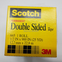 3M Removable Repositionable Transparent Tape 665 12.7mm x 22.8m