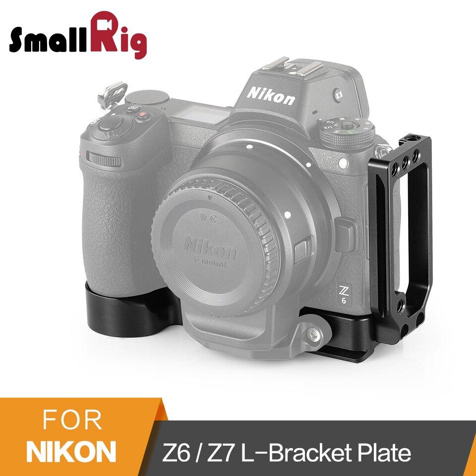 SmallRig Z6/Z7 L-Piatto di Staffa per Nikon Z6 e Nikon Z7 Macchina Fotografica Arca-Swiss Standard Rapido L Piastra a sgancio Piastra di Montaggio-2258