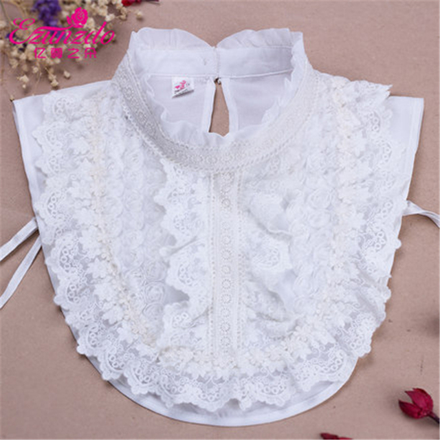 Yizunzhiduo Detachable Collar Fashion White Lace Peter Pan Collar
