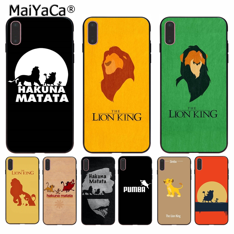 MaiYaCa Lion King Pumba Hakuna Matata Black TPU Soft Phone Case Cover for iPhone 11 pro max 8 7 6 6S Plus 5 5S SE XR X XS MAX