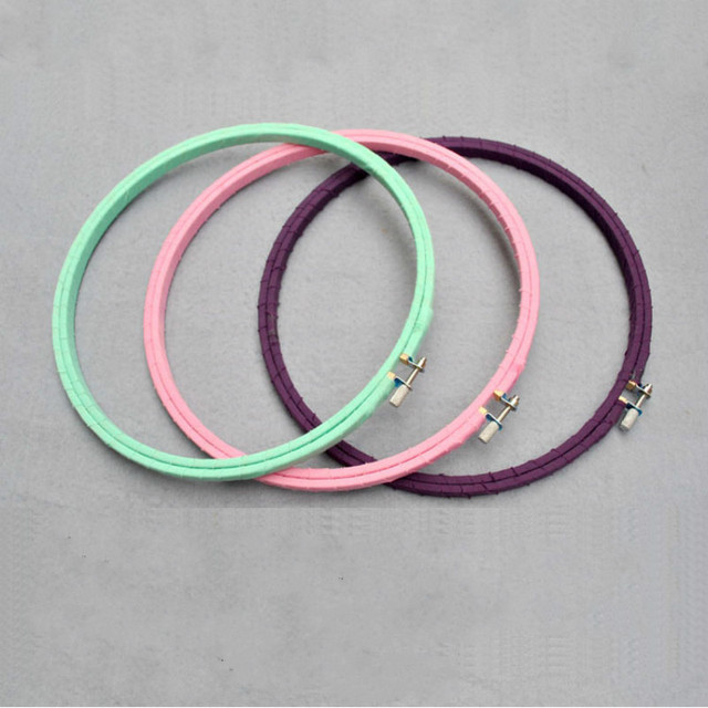 mini 8 cm wrapped ribbon chinese embroidery hoops bamboo cross stitch frames diy diamond painting - Embroidery Frames