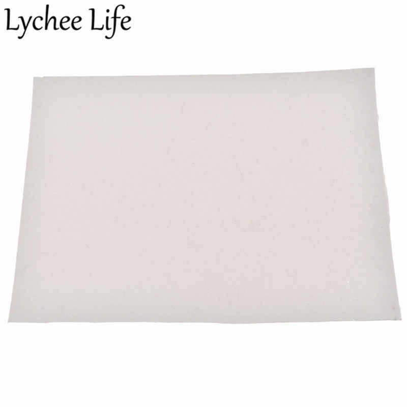 Lychee Life A5 tkanina ze sztucznej skóry kolorowe PU przezroczysta tkanina DIY nowoczesny dom materiał na strój tkaniny do szycia akcesoria