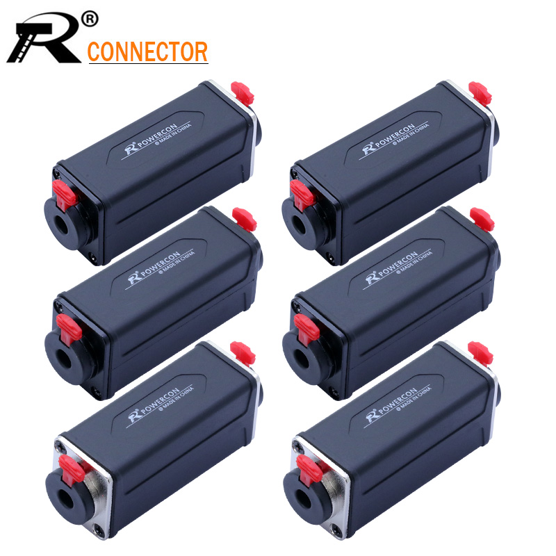 1PC R Connector 3PIN XLR/Jack 6.35mm Dual Function Panel Mount Adapter Speakon Extended Straight Adapter