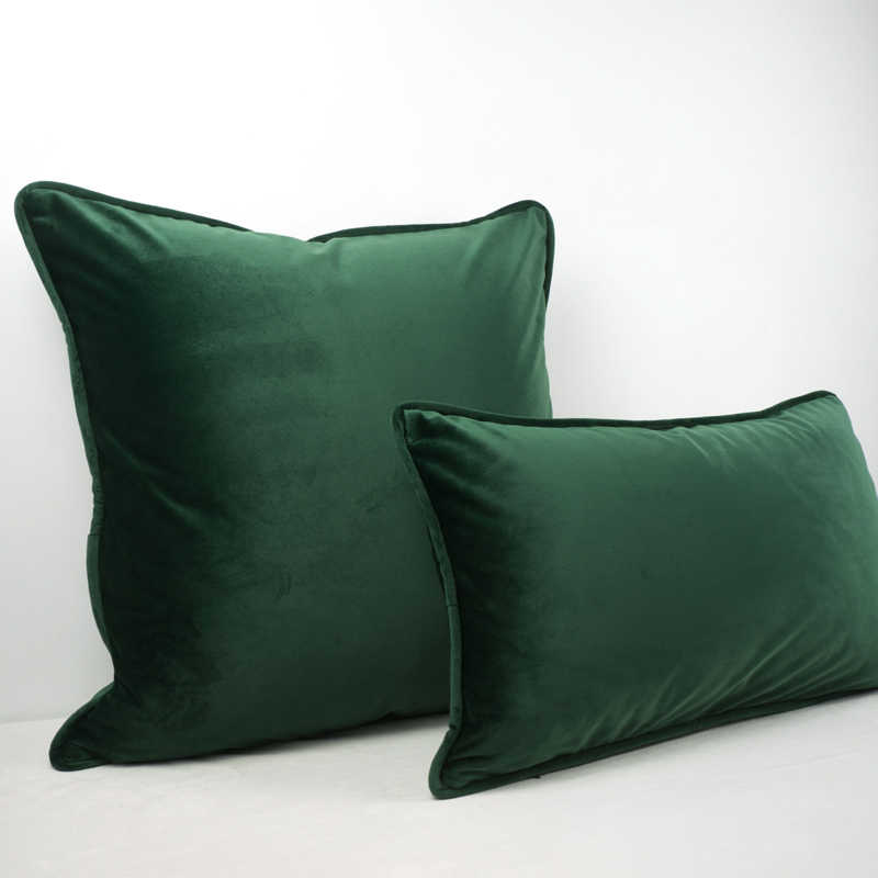 Cuscini Senza Fodera.Di Alta Qualita Verde Nero Piping Design Velluto Fodere Per